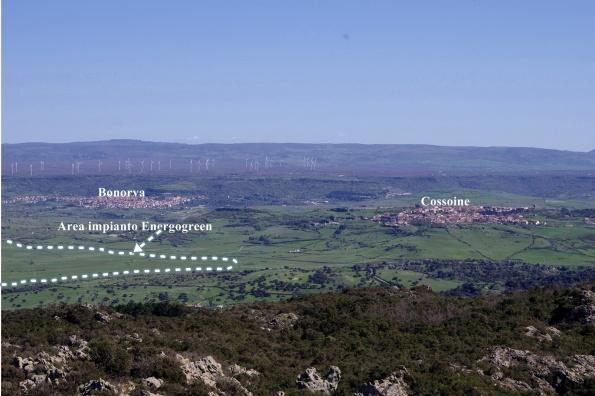 Cossoine - Bonorva, impatto cumulativo centrale eolica (esistente) + centrale solare termodinamica (in progetto)