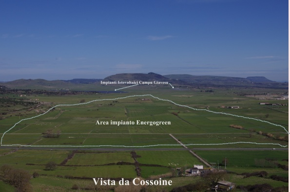 Cossoine, Campu Giavesu, indicazione area progettuale