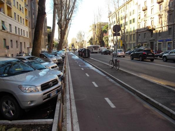 Roma, Viale Angelico, pista ciclabile