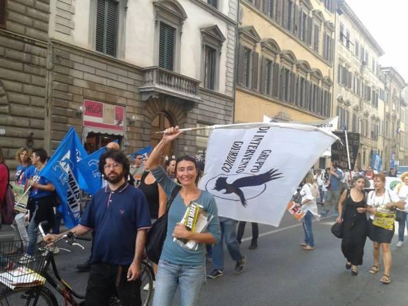 Firenze, il GrIG alla manifestazione contro la caccia (14 settembre 2013)
