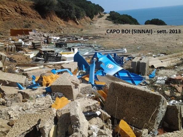 Sìnnai, Capo Boi - Cala Sirena, discarica abusiva