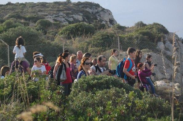 Cagliari, Sella del Diavolo, gruppo di escursionisti in occasione della X Giornata nazionale del Trekking urbano (2013)