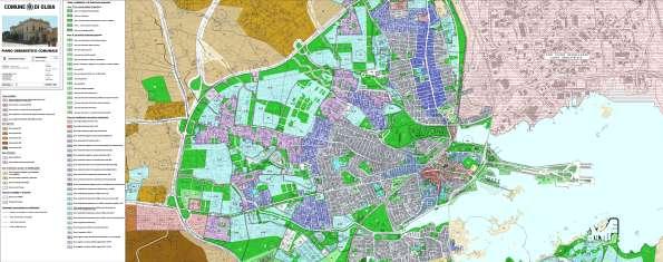 Olbia, cartografia P.U.C. (adottato, ma non in vigore)