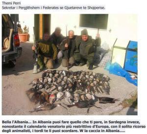 Albania, cacciatori sardi (da Facebook)