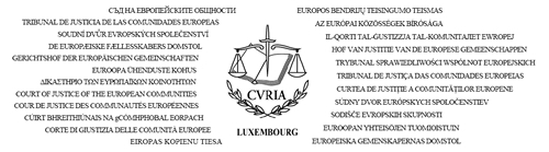 stemma Corte di Giustizia europea