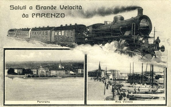 Parenzo, cartolina d'epoca