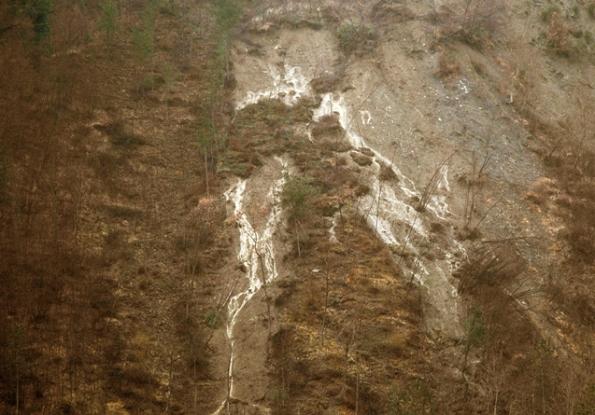 frane e dilavamento dei terreni a causa dei tagli boschivi