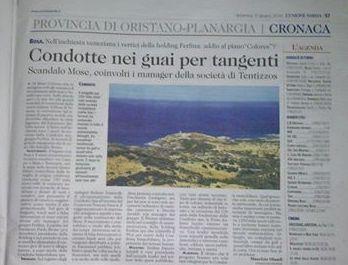 L'Unione Sarda, 15 giugno 2014
