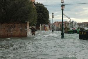 Venezia, acqua alta, 1 dicembre 2008