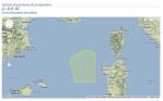 Mar di Sardegna, area del progetto Schlumberger Italiana s.p.a.  di prospezione peridrocarburi