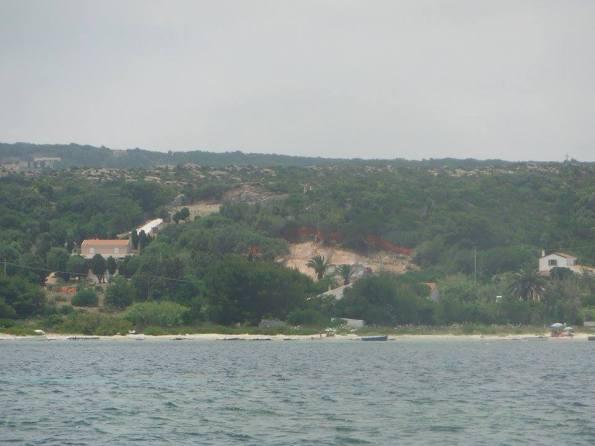 Carloforte, Tacca Rossa, sbancamento