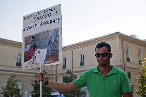 Mauro Zaratta (Taranto, 17 agosto 2012, da www.gettyimages.com)