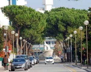 Abano Terme, via alberata
