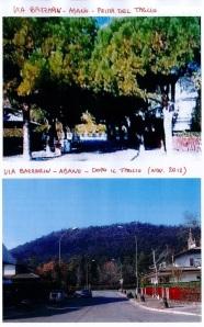 Abano Terme, Via Bazzarin prima e dopo il taglio degli alberi