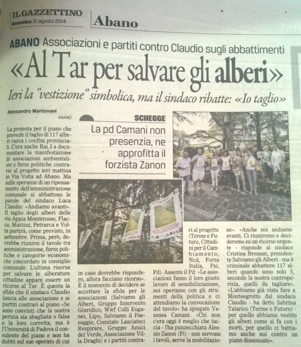Il Gazzettino, 31 agosto 2014