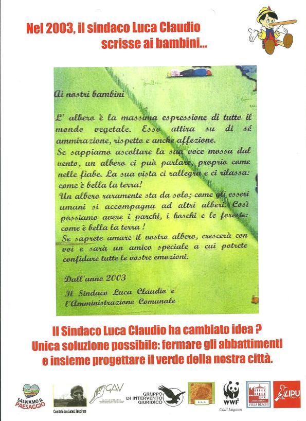 Abano Terme, manifestazione per il verde pubblico (30 agosto 2014)