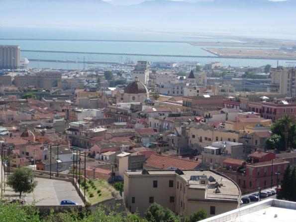 Panorama Cagliari da Viale Buoncammino
