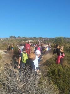 Cagliari, Sella del Diavolo, partecipanti alla Giornata nazionale del Trekking urbano