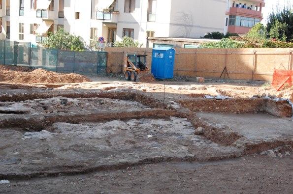 Cagliari, Colle di Bonaria, ruderi di insediamento medievale