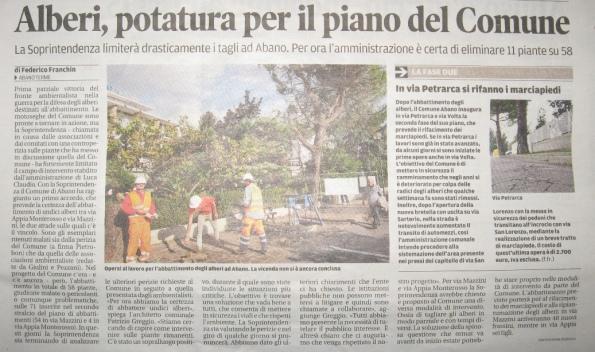 Il Mattino di Padova, 20 novembre 2014