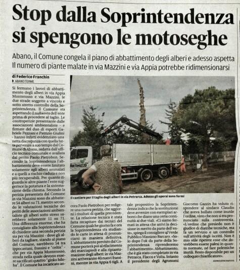 Il Mattino di Padova, 22 ottobre 2014
