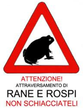 cartello attenzione passaggio Rospi