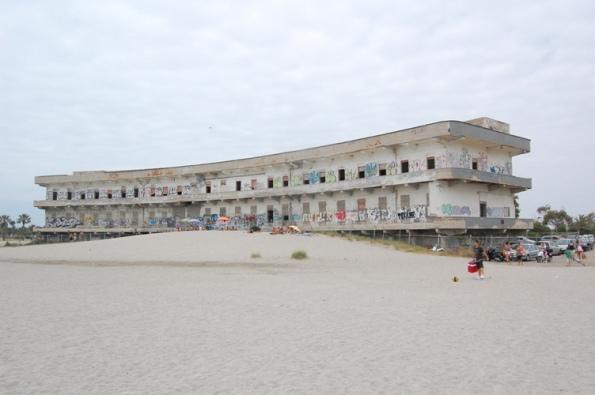 Cagliari, Poetto, rudere dell'ex Ospedale Marino