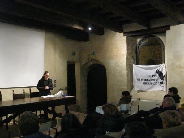 """Castello di San Martino, Cervarese di S. Croce (PD),  dibattito """"La Dittatura dell'Uomo"""" (29 gennaio 2015)"""
