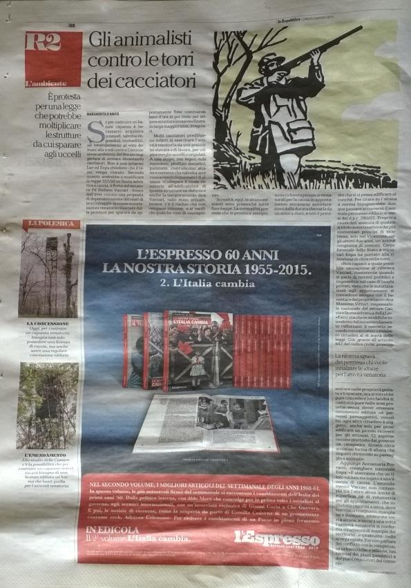 La Repubblica, 23 marzo 2015