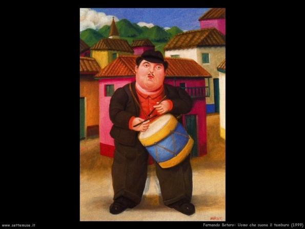 Fernando Botero, Uomo che suona il tamburo (1999)