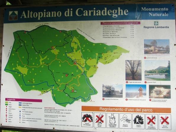 Serle, Altopiano di Cariadeghe, pannello illustrativo S.I.C.