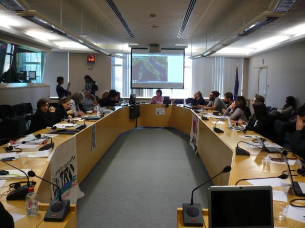 Bruxelles, Parlamento europeo, audizione dei rappresentanti ambientalisti presso la Commissione ENVI