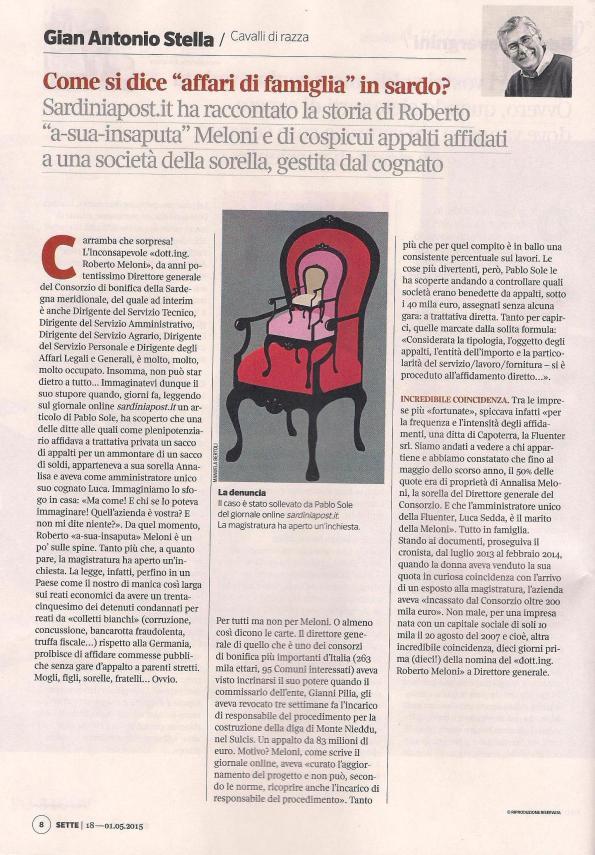 Sette, magazine del Corriere della Sera, 1 maggio 2015