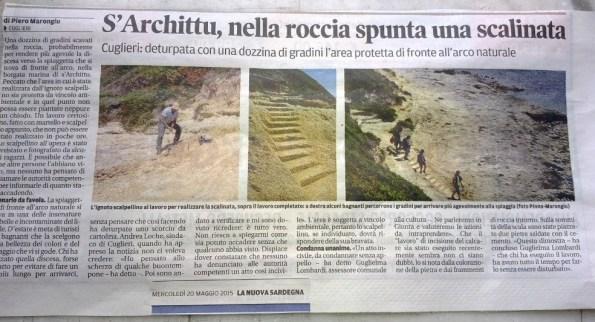 La Nuova Sardegna, 20 maggio 2015