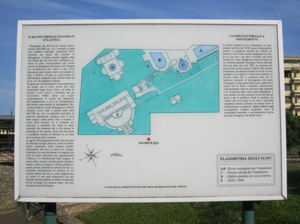 Montegrotto Terme, pannello illustrativo area archeologica