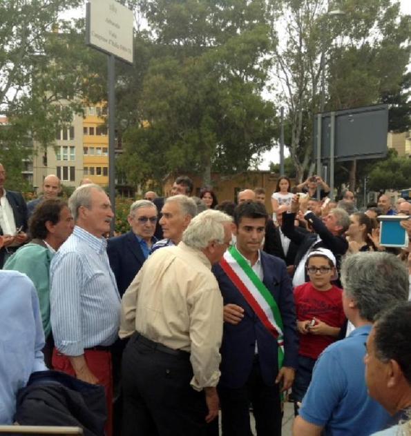 Cagliari, inaugurazione Viale Campioni d'Italia 1969-1970 (13 giugno 2015 - A.N.S.A.)