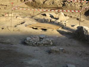 Selargius, cantiere in Via Atene, sito recintato per probabile presenza di reperti archeologici (giugno 2015)