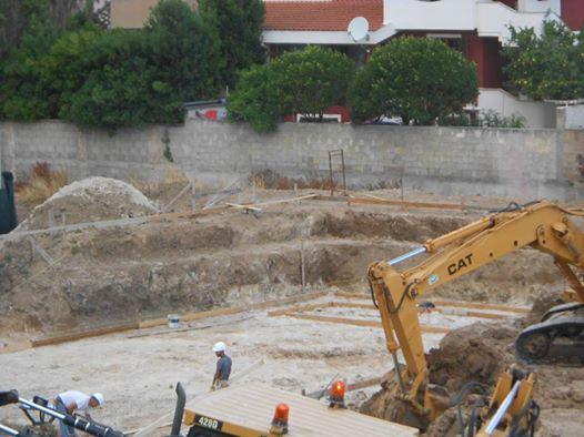 Selargius, cantiere Via Atene (giugno 2015)