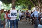 Cagliari, sit in contro il progetto Saras dei indagini energetiche ad Arborea (1 luglio2015)