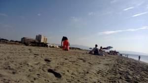 Cagliari, Poetto, pulizia mattutina