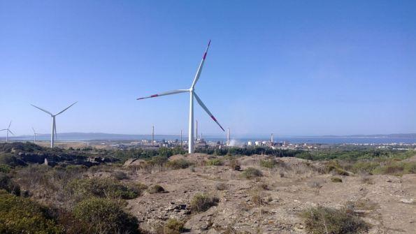 Portoscuso, centrale eolica