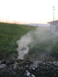 S. Maria di Veggiano, rogo di rifiuti (agosto 2015)