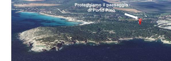 Promontorio di Porto Pino con il posizionamento del ripetitore telefonico in progetto