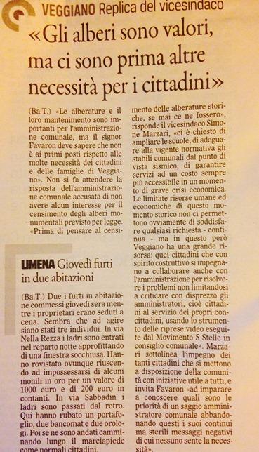 Il Gazzettino di Padova, 29 agosto 2015