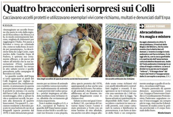 Il Mattino di Padova, 30 ottobre 2015r