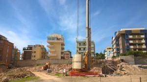 Cagliari, Via Asti, cantiere edilizio