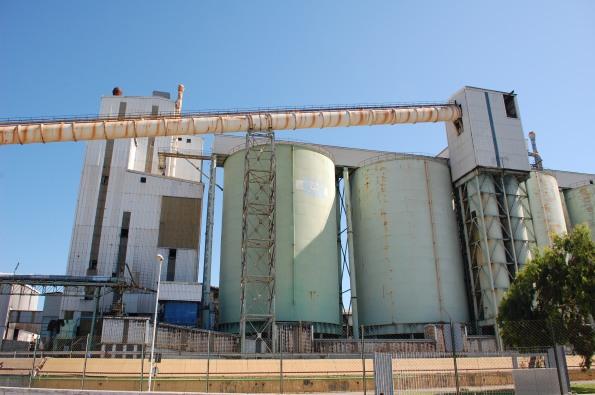 Portoscuso, zona industriale di Portovesme, impianti Alcoa