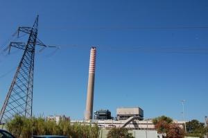 Portoscuso, zona industriale di Portovesme, centrale termoelettrica Enel