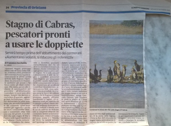 La Nuova Sardegna, 17 dicembre 2015