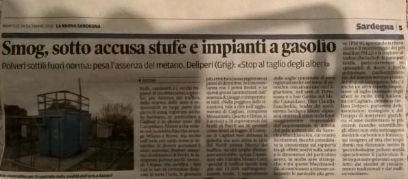 La Nuova Sardegna, 29 dicembre 2015